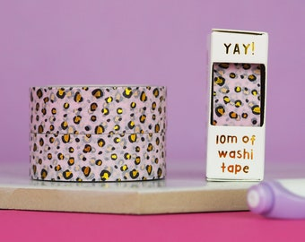 Pastel Leopard Print Washi Tape