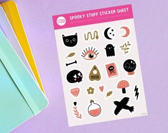 Spooky Stuff Sticker Sheet