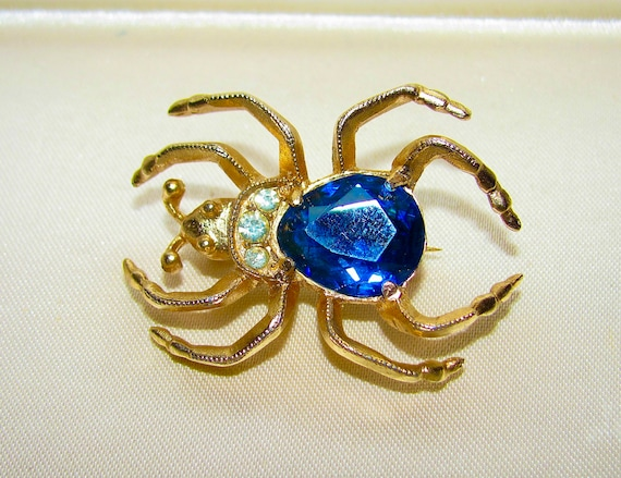 Rare EISENBERG Signed Faceted Sapphire Blue Jelly