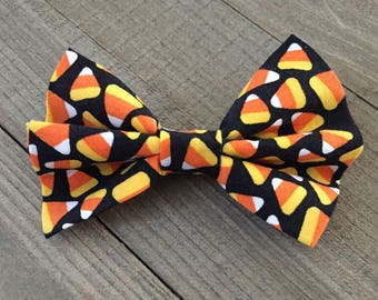 Candy Corn Bow Tie, Halloween Dog/Cat Bow Tie, Pet Bow Tie, Pet Accessory