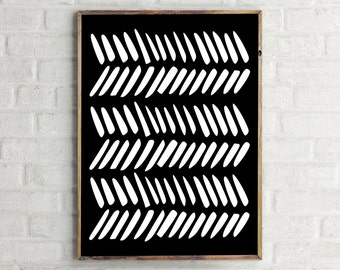 Printable Art / Geometric Print / Wall Art Print / Black and White Art Print