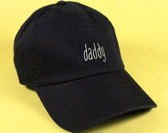 new DADDY Baseball Hat Dad Hat Low Profile White Pink Black Casquette  Embroidered Unisex Adjustable Strap Back Baseball Cap dad cap f73c154e0139