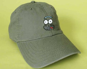 Old Man Pickle Schwifty Baseball Hat Dad Hat Rick and White Pink Black  Khaki Green Embroidered Dad Cap Adjustable Back Baseball Cap Morty c01593dafb3