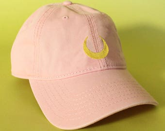 NEW Luna Baseball Hat Dad Hat Low Profile White Pink Black Casquette  Embroidered Unisex Adjustable Strap Back Baseball Cap. BrainDazed ... 8e41969b6bd8