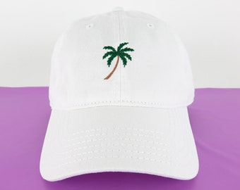 a1693e49770b4a NEW Palm Tree Baseball Hat Dad Hat Low Profile White Pink Black Casquette  Embroidered Unisex Adjustable Strap Back Baseball Cap