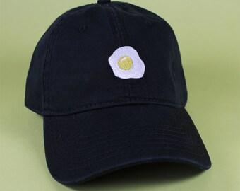 Fried Egg Baseball Hat Dad Hat Low Profile White Pink Black Casquette  Embroidered Unisex Adjustable Strap Back Baseball Cap fd9991ce69a8