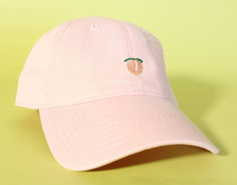 220d8444fcda05 NEW Peach Baseball Hat Dad Hat Low Profile White Pink Black | Etsy