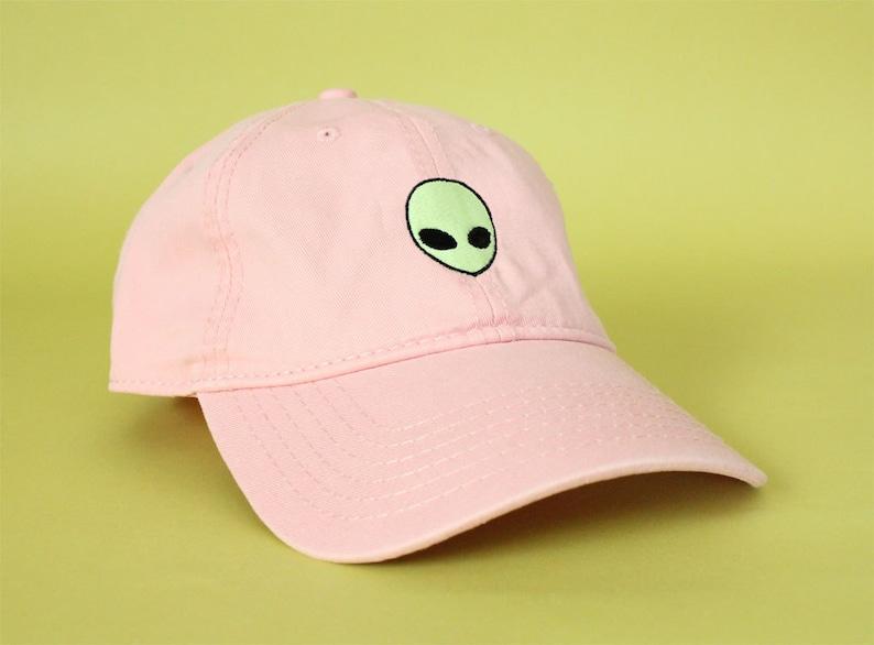 035ac85f802 NEW Glow In The Dark Alien Head Baseball Hat Dad Hat Low