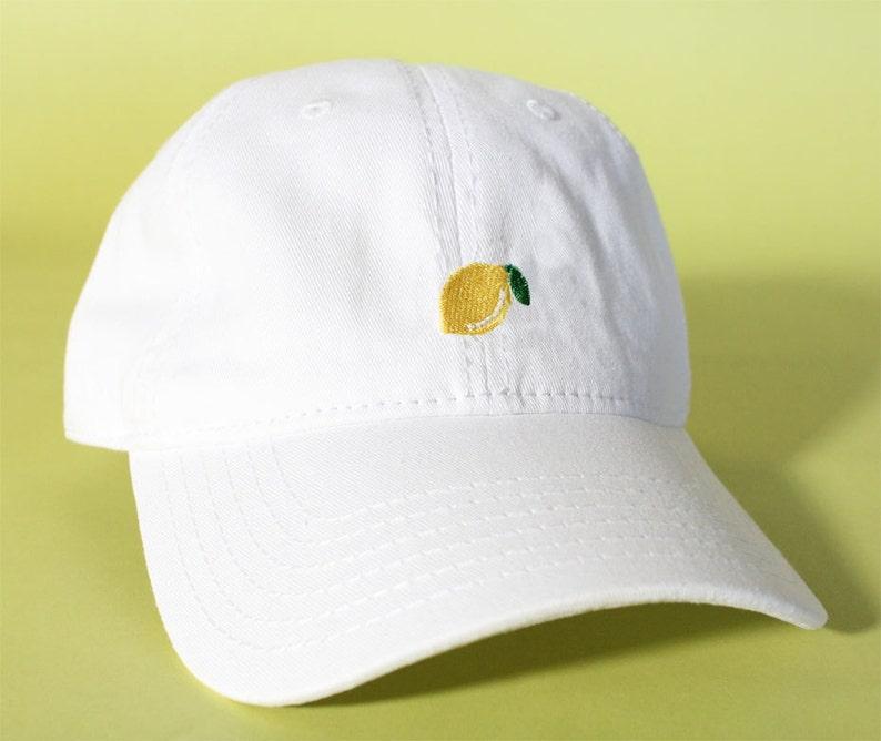 NEW Lemon Baseball Hat Dad Hat Low Profile White Pink Black  fa539c70191