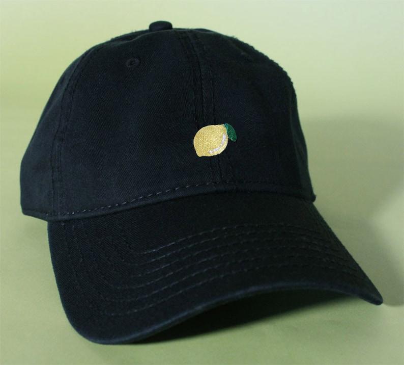 NEW Lemon Baseball Hat Dad Hat Low Profile White Pink Black  7d4b94f78007