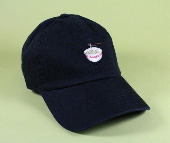 Items similar to Ramen Emoji Baseball Hat Dad Hat Low Profile White ... 56d60a81d422