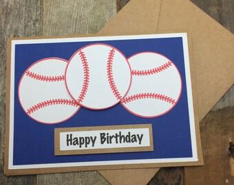Happy Birthday Card, Happy Birthday Baseball Card, Happy Birthday Sports Card, Happy Birthday Softball Card, Baseball Card, Birthday Card