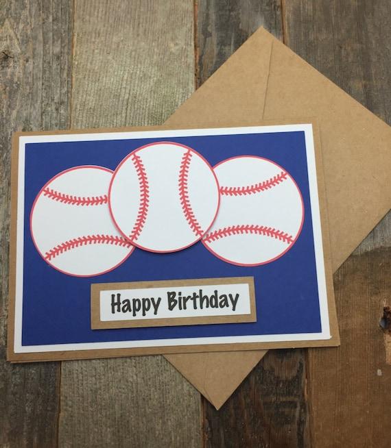 Happy Birthday Card Happy Birthday Baseball Card Happy Birthday Sports Card Happy Birthday Softball Card Baseball Card 57