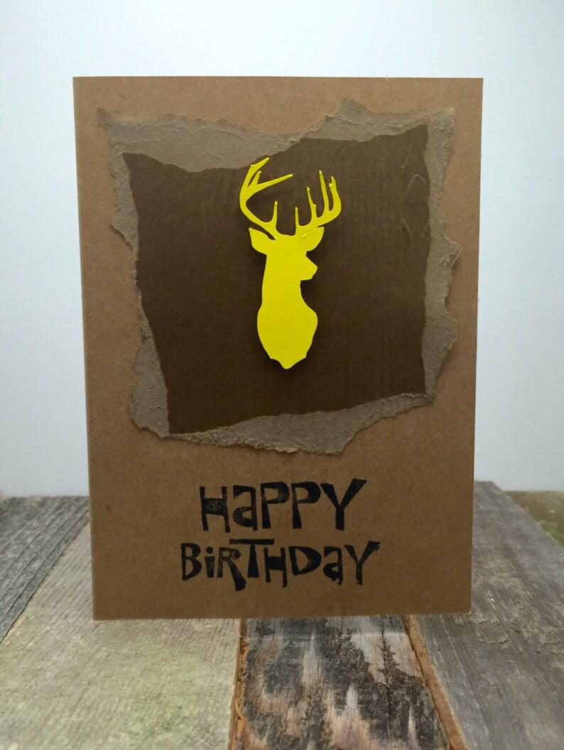 Happy Birthday Hunting Card Happy Birthday Buck Card Happy Birthday Deer Card 54 Happy Birthday Card Birthday Card