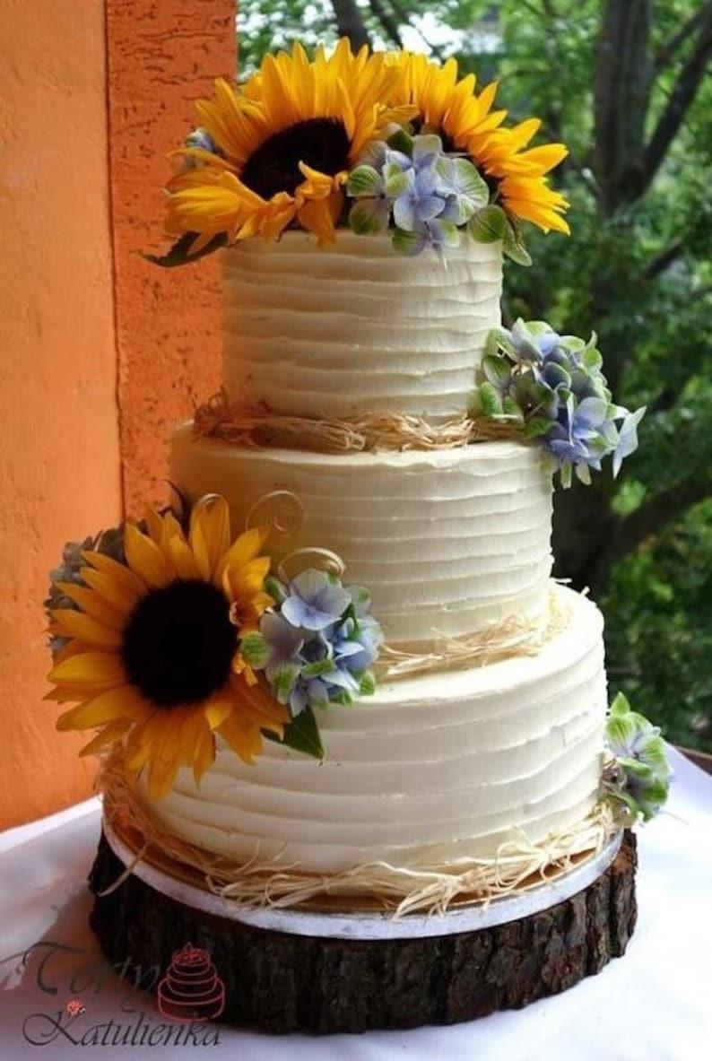 Torte Matrimonio Girasoli : Girasole torta topper etsy