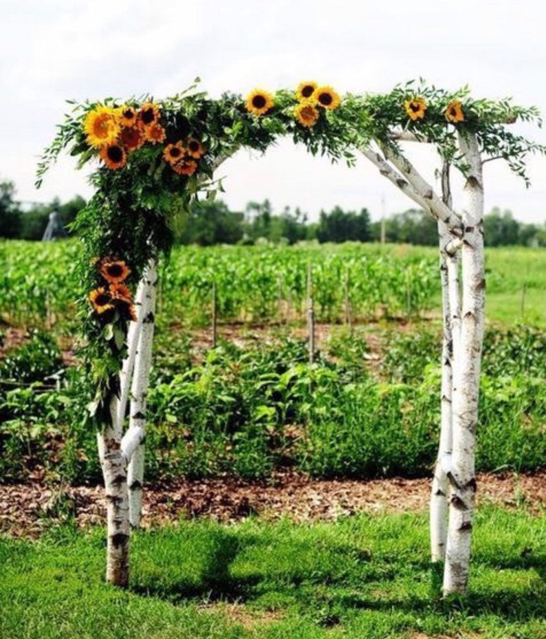 Sunflower Fall Wedding Arch Arbor Swag image 0