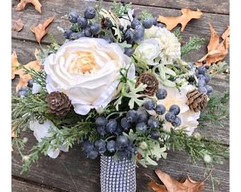 Rustic Winter Wedding Bridesmaid Bouquet