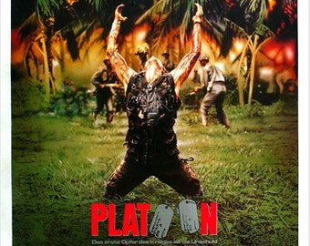 Vietnam War PLATOON MOVIE POSTER 1986 Willem Dafoe Charlie Sheen 24x36