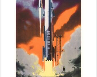 Vintage Soviet Union Space Program Poster A3 Print | Etsy
