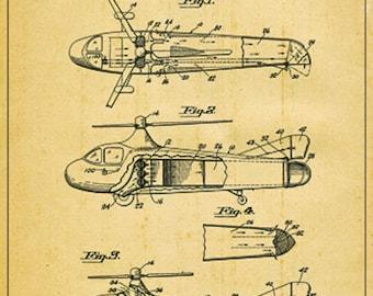Vintage Sabena Belgian Helicopter Service Poster A3//A4 Print