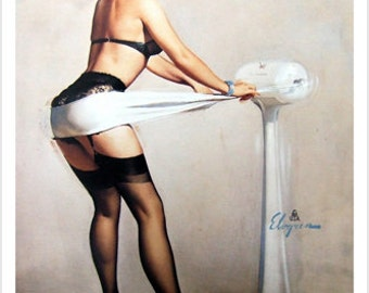 66fd895af 1962 VINTAGE pin-up poster 24X36 adorable funny SEXY LINGERIE fun-loving