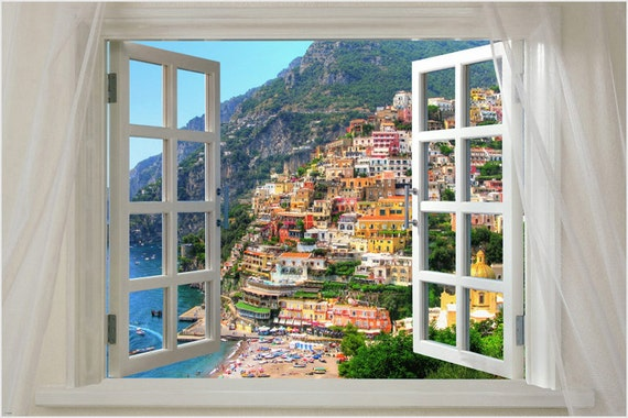 window onto SILVER MOUNTAIN scenic poster 24X36 RARE PICTURESQUE new hot