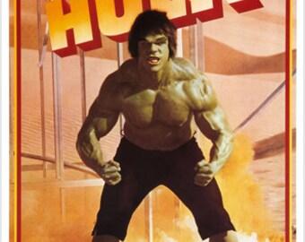Classic Poster The Incredible Hulk Green Growling Flexing Muscles 24x36
