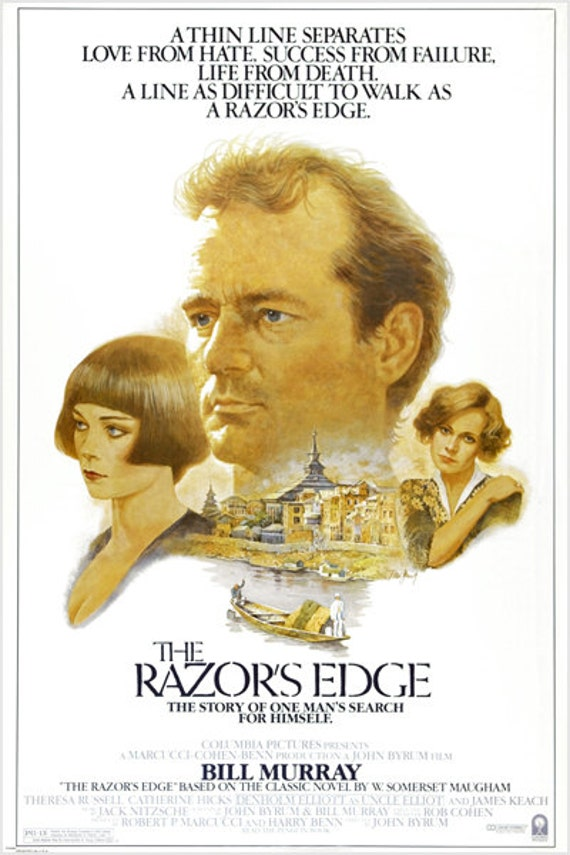 Vintage Movie Poster The Razor S Edge Bill Murray Drama Etsy