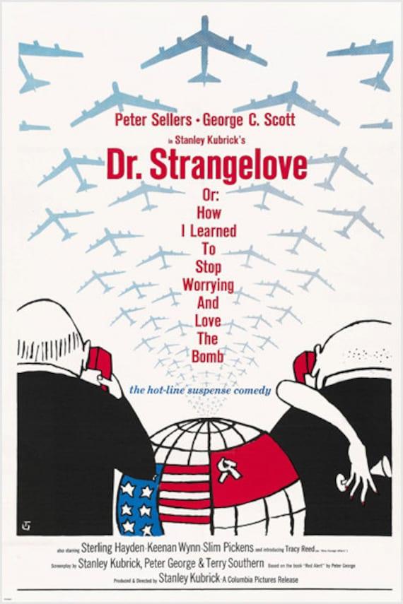 Stanley kubrick's DR. STRANGELOVE movie poster 1964 Peter   Etsy