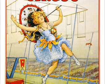Sells Floto Vintage Circus Ad Poster 24x36 ...Great For Home Decor!