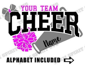 Cheer SVG Cheer Megaphone Download File Cheerleader diy Shirt PNG DXF eps, Silhouette Studio, Vinyl Digital Cut svg File Cricut, Silhouette