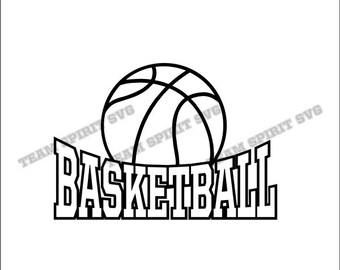 basketball icon cut etsy