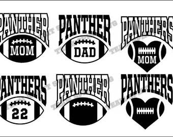 Panthers in Football SVG Download File Football Mom DXF EPS  7d2b65f99