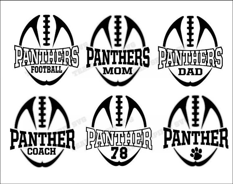 Panthers Football Mom with Numbers Download File SVG DXF  112a6d94b