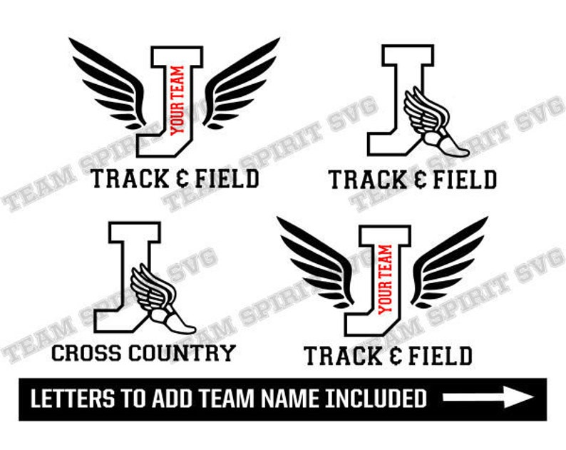Track and Field SVG Cross Country svg Letter J Download Files | Etsy