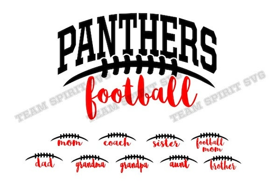 Panthers Football Laces SVG Download File Football Mom DXF  0ca216f32