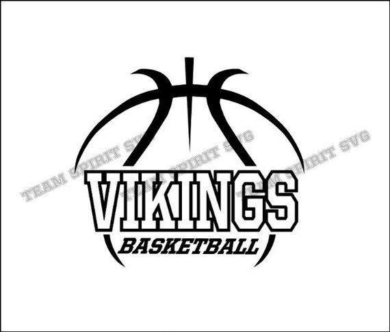 Vikings Basketball Outline Download Files - SVG, DXF, EPS, Silhouette  Studio, Vinyl, Digital Cut Files -Use with Cricut, Silhouette