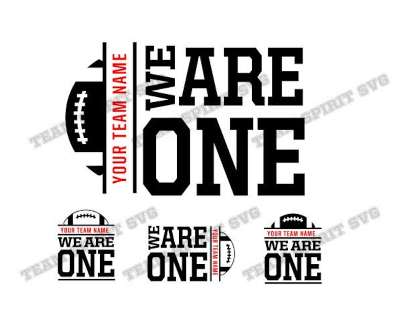 Football SVG Team Motto Football Download Files, Sports Quotes, DXF, EPS,  Silhouette Studio, Vinyl Cut Files, Digital Cut Files for Cricut