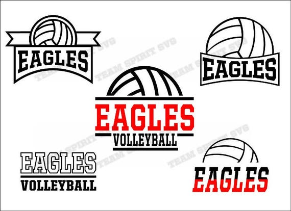 Eagles Volleyball Pack Save Big Download Files Svg Dxf Etsy