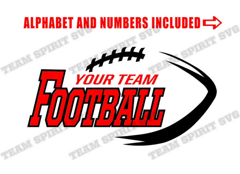 Football SVG Football Team Download Files Sports Quotes DXF EPS Silhouette  Studio Football Lace Vinyl Cut Files Digital Cut Files for Cricut