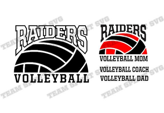 Raiders Volleyball Svg Volleyball Mom Download Files Dxf Eps Etsy