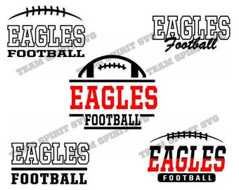 Eagles Football Pack Bundle Files - SVG, DXF, EPS, Silhouette Studio, Vinyl Cut Files, Digital Cut Files -Use with Cricut and Silhouette
