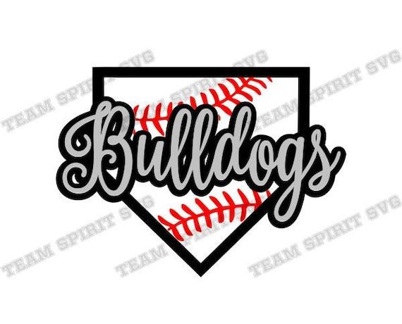 Bulldogs SVG Baseball Base Download Files Baseball Laces Stitches DXF, EPS,  Silhouette Studio Vinyl Digital Cut Files for Cricut, Silhouette
