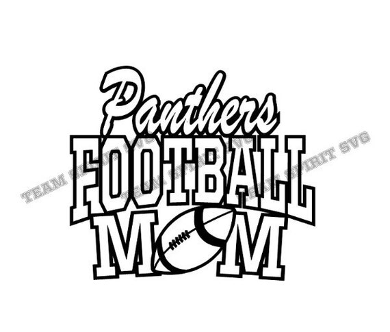 Panthers Football Mom SVG DXF EPS Silhouette Studio  e6c826ea5