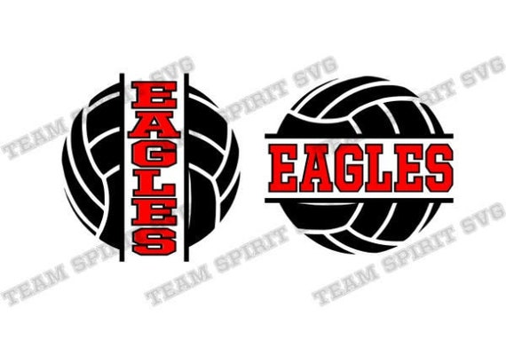 Eagles Volleyball Download Files Volleyball Shirt Design Svg Etsy