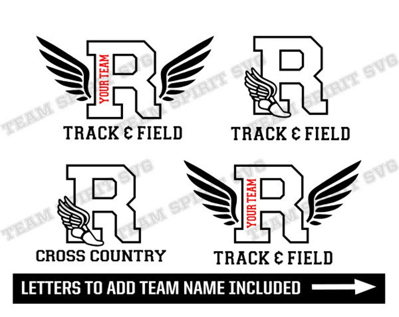 Track and Field SVG Cross Country svg Letter R Download Files | Etsy