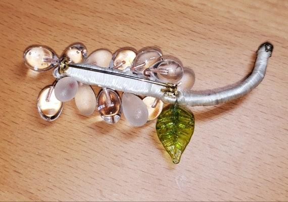 Rock Crystal POOLS OF LIGHT Flower  Pin / Brooch! - image 4