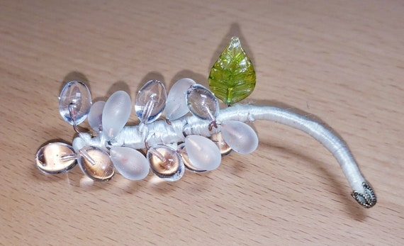 Rock Crystal POOLS OF LIGHT Flower  Pin / Brooch! - image 5