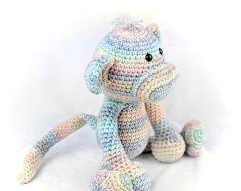 Monkey Amigurumi, Handmade Crochet Monkey, Stuffed Animal, Plushie Monkey, Hypoallergenic Monkey Doll