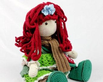 Gilda the Red Head Crochet Doll